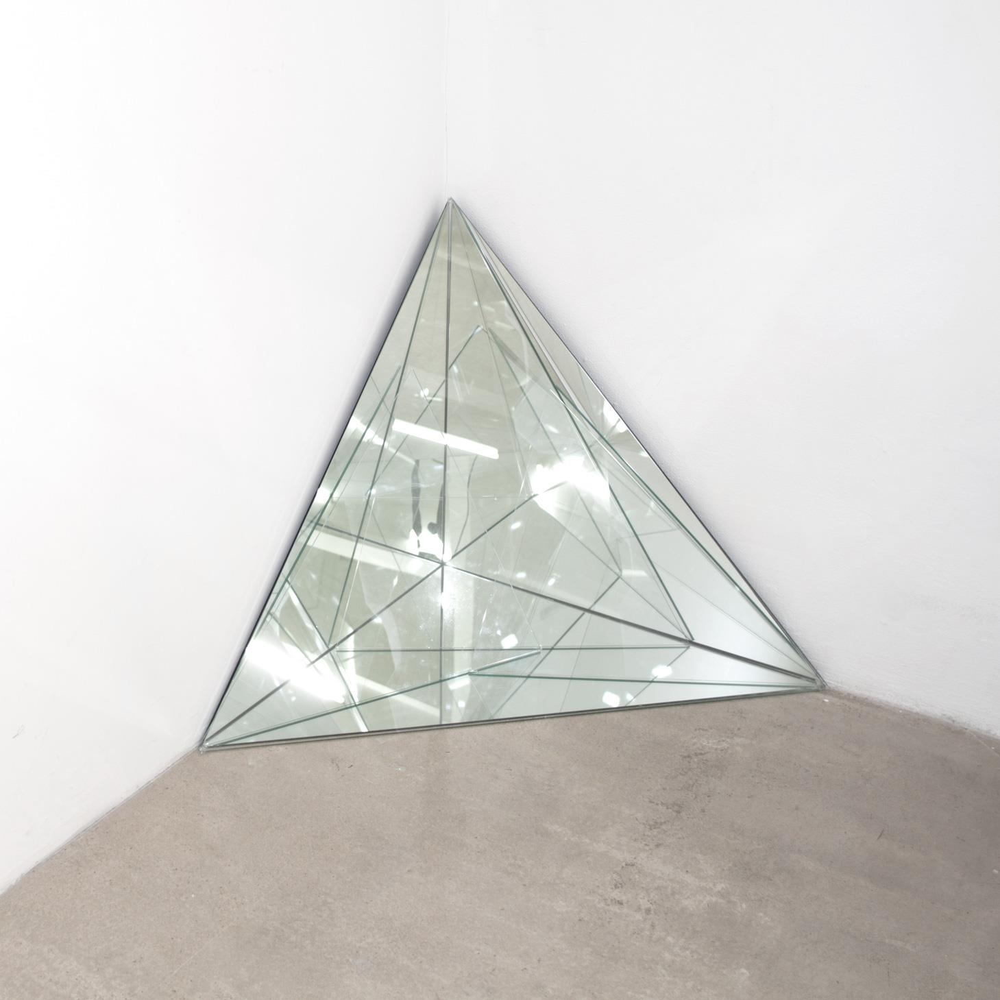 Triangle 2012 glass mirror 70 x 70 cm h 70 for Miroir 70 x 70
